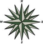Green Compass Rose