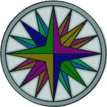 MultiColored Compass Rose