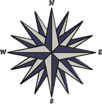 Blue Compass Rose