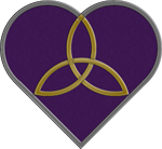 Purple Trinity Heart